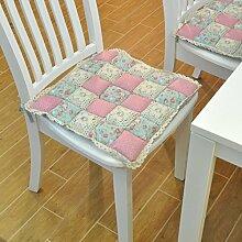 EFRC Pastorales Amt der Stoff Baumwolle gepolstert Esszimmer Stuhl Pad Brötchen Pad Sitzpolster,4