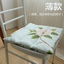 EFRC Pastorales Amt von der Baumwolle Blume Sitzbank Kissen dünnen Stuhl Esszimmer Stuhl,1