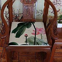 EFRC Tinte Lotus Oldtimer Mahagoni Sofa Kissen Esszimmer Stuhl Kissen gepolstert Kissen Sitzkissen,2