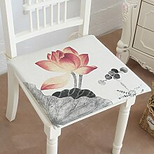 EFRC Tinte Lotus Pad Baumwolle und Leinen Kissen Stuhl Bank Matte Antirutsch-Stuhl Pad Esszimmer Stuhl Pad Büro,8