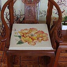 EFRC Vintage Mahagoni Sofa Kissen Esszimmer Stuhl Kissen gepolstert Kissen Sitzkissen,7