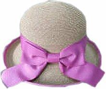 Efudfj Dame Anmutig Schön Aristokratische Luft Cool Licht Schöner Schweiß Dekorativ Abwärme Sommer Sonnenschutz Hut Mütze,C:Pink-57cm