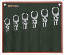 EGA Master 68234–Set von 6PCS. Von classicgear Flexible Gear Gelenk Schlüssel Spiegel poliert Verchromung