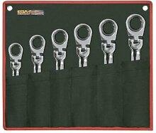EGA Master 68236–Set von 6PCS. Von classicgear Flexible Gear Gelenk Schlüssel Spiegel poliert Verchromung