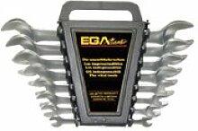 EGA Master 68469–Set von 6Kombination Schraubenschlüssel 3/20,3cm–3/10,2cm Spiegel poliert Verchromung