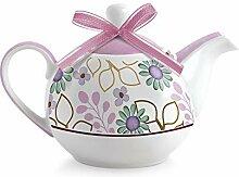 Egan Teekanne aus Porzellan, Elfenbeinfarben, Small