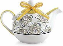 Egan Teekanne, Porzellan, Elfenbein, klein