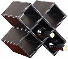 EGCLJ Plaid Wine Rack - Freistehendes Weinregal -
