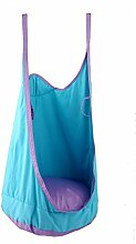 eggdel Frosch zum Aufhängen Pod Swing Sitz Innen- und Outdoor Hängematte für Kinder bis Erwachsene (Blau)