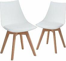EGGREE 2er Set Holz küchen stühle, Retro