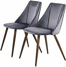 EGGREE 2er Set Stühle Samt Esszimmerstuhl