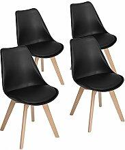 EGGREE 4er Set Esszimmerstühle mit Massivholz