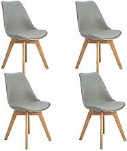 EGGREE 4er Set Esszimmerstühle Skandinavisch