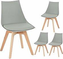 EGGREE 4er Set Holz küchen stühle, Retro