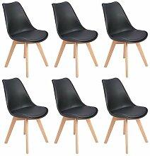 EGGREE 6er Set Esszimmerstühle mit Massivholz