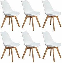 EGGREE 6er Set Esszimmerstühle Skandinavisch