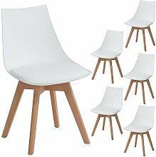 EGGREE 6er Set Holz küchen stühle, Retro