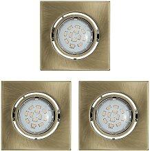 Eglo 93248 - SET 3x LED Einbauleuchte IGOA