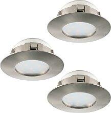 Eglo 95823 - SET 3x LED Einbauleuchte PINEDA