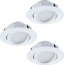 Eglo 95851 - SET 3x LED Einbauleuchte PINEDA