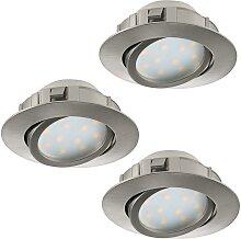 Eglo 95853 - SET 3x LED Einbauleuchte PINEDA