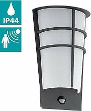 EGLO LED Außen-Wandlampe Breganzo 1, 2 flammige