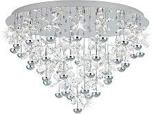 Eglo LED-DECKENLEUCHTE , Chrom, Metall, Glas, 52.5