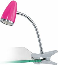 EGLO LED Klemmspot Riccio 1 aus Stahl in pink mit