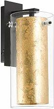 EGLO Wandlampe Pinto Gold, 1 flammige Wandleuchte,
