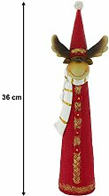 EGLO X-Mas Stand Figur Rentier Zipfel Mütze