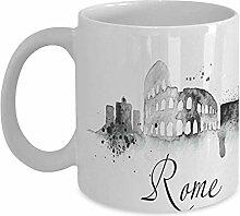Egoa Ceramic Mug Silhouette Ink Rome Unique