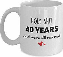 Egoa Coffee Mug 40 Jahre Jubiläum Kaffeebecher