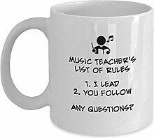Egoa Coffee Mug Musiklehrer 'S Regelliste