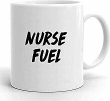 Egoa Kaffeebecher Krankenschwester Kraftstoff