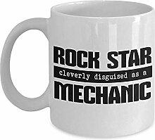 Egoa Kaffeebecher Mechanic Gift Mug Weiß 330Ml