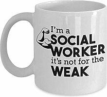 Egoa Kaffeebecher Social Worker Gift Mug Weiß
