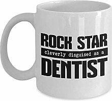 Egoa Kaffeebecher Zahnarzt Geschenkbecher Weiß