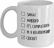 Egoa Mug Cricket Porzellantasse Kaffeebecher Weiß