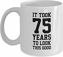 Egoa Tasse 75. Geburtstagsgeschenke Kaffeebecher