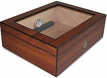 Egoist JK00171 Holz Humidor Box mit Hygrometer,