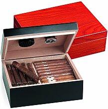 Egoist JK00185 Holz Humidor Box mit Hygrometer