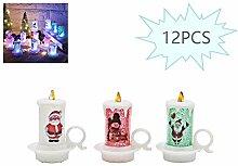 Egosy Weihnachtskerze Kerze Tasse LED Teelichter