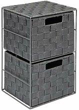 EHC Aufbewahrungsschrank mit 2 Schubladen-Körben
