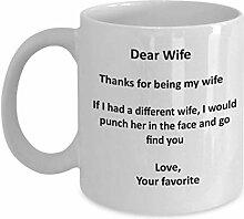 Ehefrau Geschenke Kaffee-Haferl - Dank für das