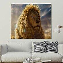 Ehrfürchtiger Goldene Löwe unter Sonnenlicht