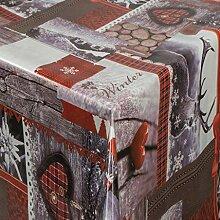 EHT Tischdecke Wachstuch Weihnachten rund eckig