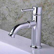 EHTF Kupfer Einhebel Wasserhahn Bad chrom Armatur Badezimmer Waschbecken Waschtischarmatur Wasserfall Einhandmischer für aufsatzwaschbecken,30