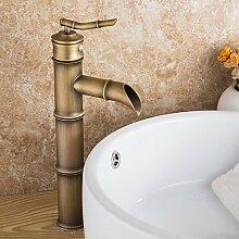 EHTF Wasserhahn Bad Armatur Badezimmer Waschbecken Waschtischarmatur Einhandmischer für aufsatzwaschbecken Antike Wasserhahn