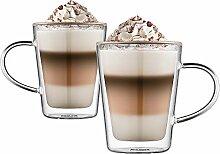 Ehugos Doppelwandige Cappuccino Tassen Glaser
