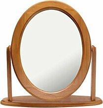 Eiche Effekt Oval Schminktisch Spiegel